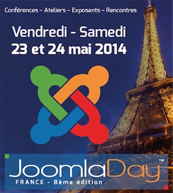 JoomlaDay à Paris le 23 et 24 mai 2014